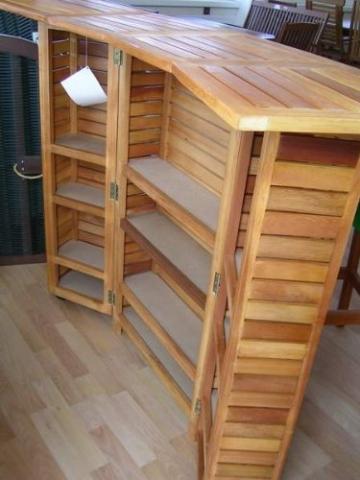 Bartheke , Hausbar, Gartenbar, Eukalyptus-Holz FSC geölt -