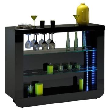 Sciae hochglanz bartisch bierzapfanlage kaufen mit for Meuble bar pour salon