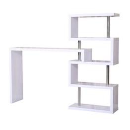 homcom 831-011 Bartisch, Holz, weiß, 195 x 39,6 x 164,5 cm -