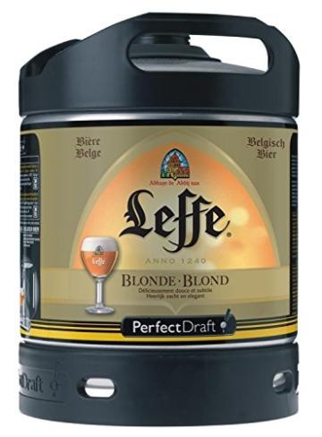 Original belgisches Bier - LeffeBlondeFass6 Liter, 6,6% Vol.Belgisches Abday Bier. BBQ und Party!! -